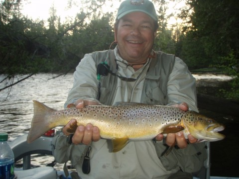 "21"" Brown Trout caught on Biot Parachute"