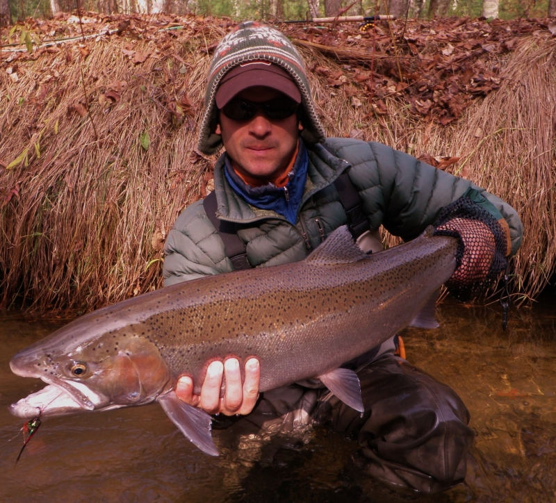 Steelhead caught on Hubbard's Low Water Leech