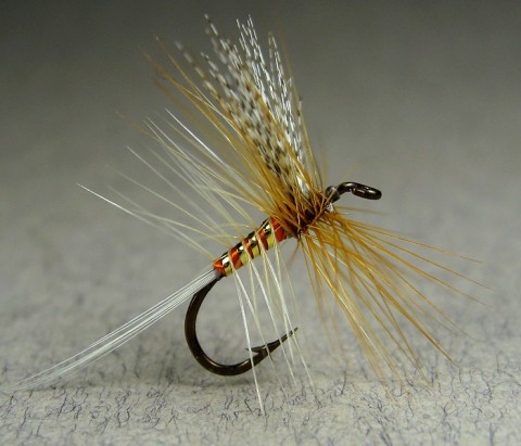 Queen of the Waters Catskill style dry fly - tied by Karsten Neben