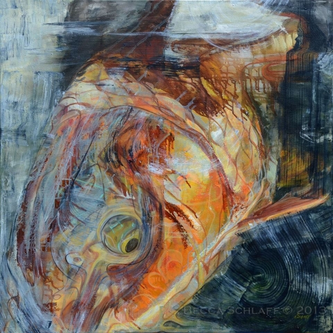 Becca Schlaff painting of a carp