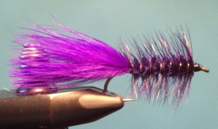(x) AMS Woolly Bugger, Purple 6 Mustad R74
