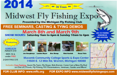 2014 midwest fly fishing expo frankenfly for Fishing the midwest