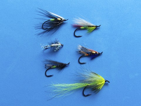 Goulet Salmon Flies (Group Shot)