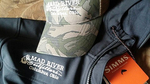 Mad River Outfitters hat and Simms Jacket