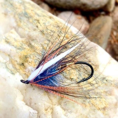 Custom Bronze and Blue Spey Fly tied by Brita