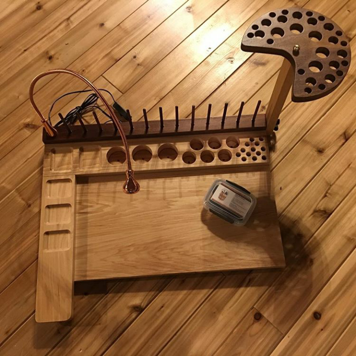 My New Fly Tying Table From Hartman Woodworking Frankenfly